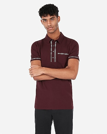527064e82 Express View · piped moisture-wicking performance polo