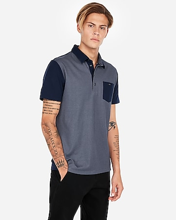 Express View · double faced performance polo shirt a6df880f2805