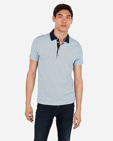 d9d2b090 Express View · diamond print moisture-wicking polo