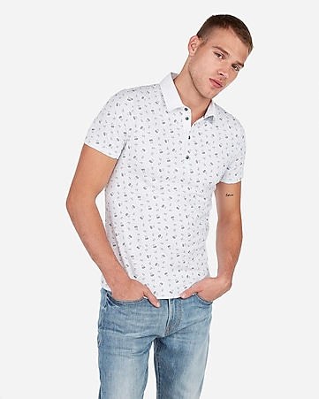 f6b73e508594 Express View · floral moisture-wicking performance polo