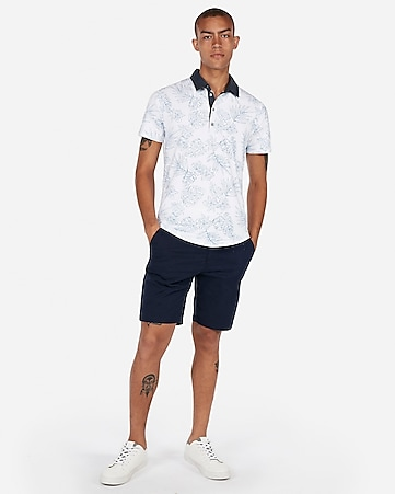 50f81742a Express View · floral moisture-wicking performance stretch polo