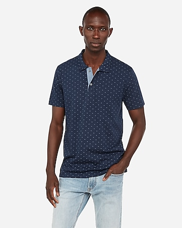 967cdc48b0 Dotted Jersey Polo | Express