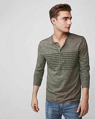 Express.com deals on Long Sleeve Striped Henley