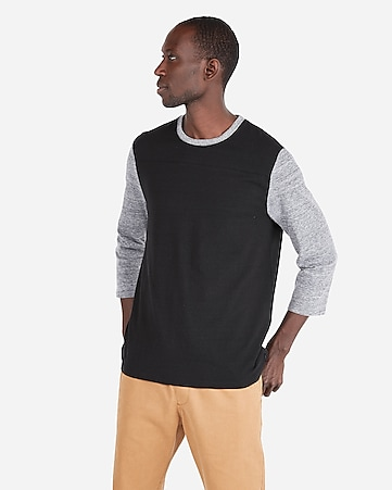 Express View Recycled Stretch Three Quarter Sleeve Football Tee
