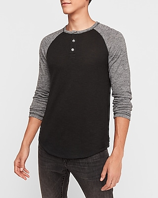 Express.com deals on Express Mens Marled Loose Knit Henley