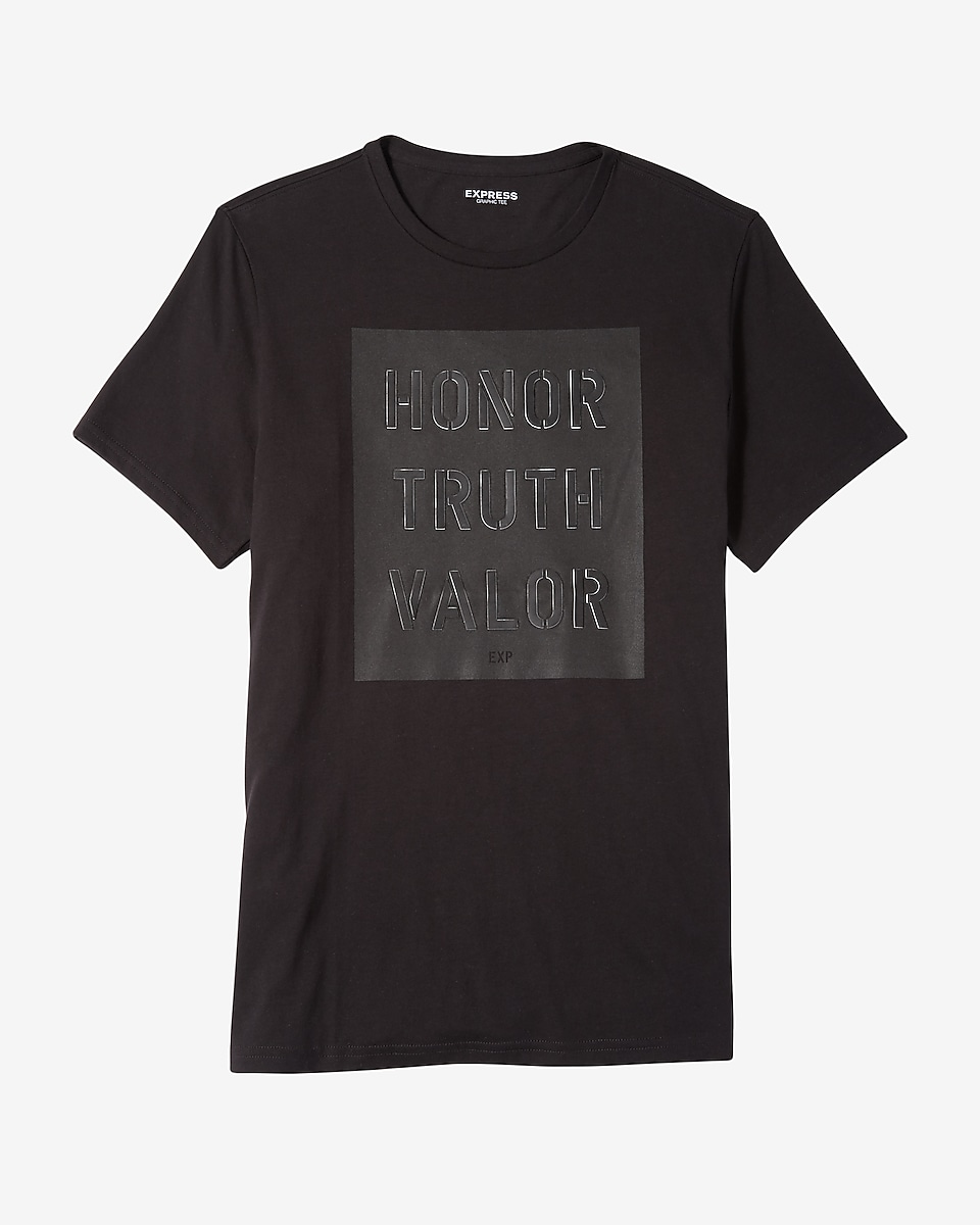 Black t shirt express -  Exclusiveexpress View Honor Truth Valor Graphic Tee