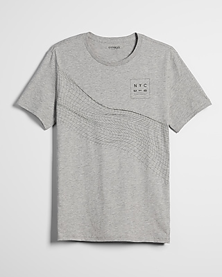Geo Linear Twist Graphic Tee by Express