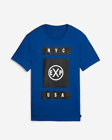 f0fa28bc2 Express View · EXP nyc usa logo crew neck graphic t-shirt