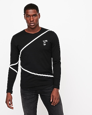 Live It Up Long Sleeve Graphic Tee by Express