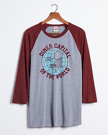 9db2cca3c Express View · homage new jersey diner capital raglan t-shirt