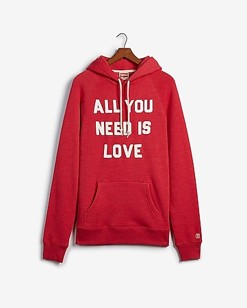 bdd805362b3a6a Express View · homage all you need is love fleece hoodie