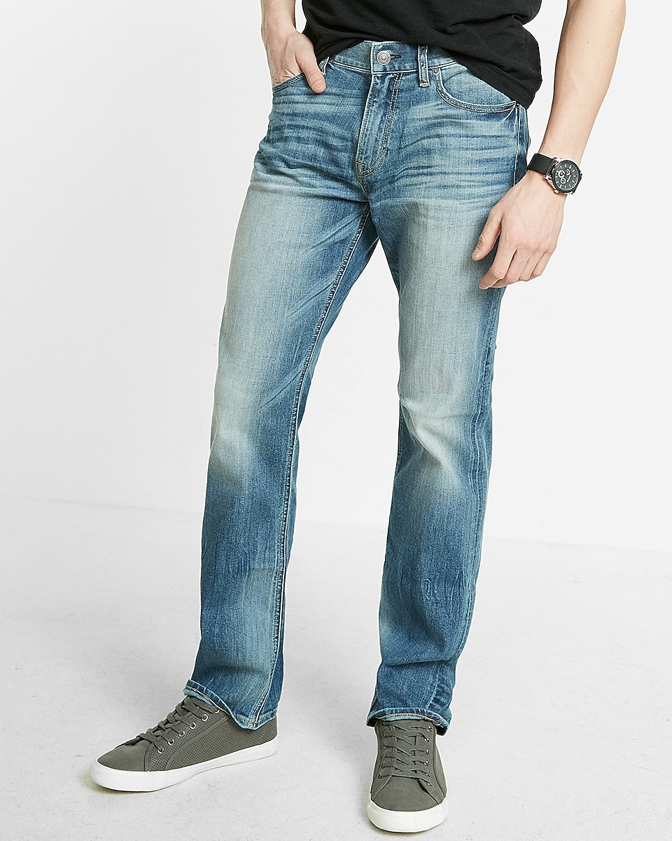 Classic Straight Stretch 365 Comfort Eco-friendly Jeans | Express