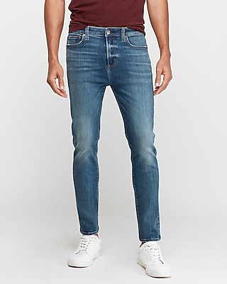 Athletic Tapered Slim Medium Wash Hyper Stretch Jeans