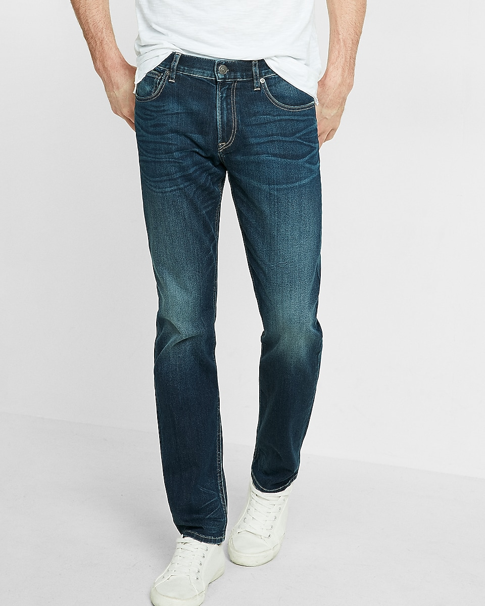 Men's Slim Straight Jeans - Shop Slim Fit Straight Leg Jeans