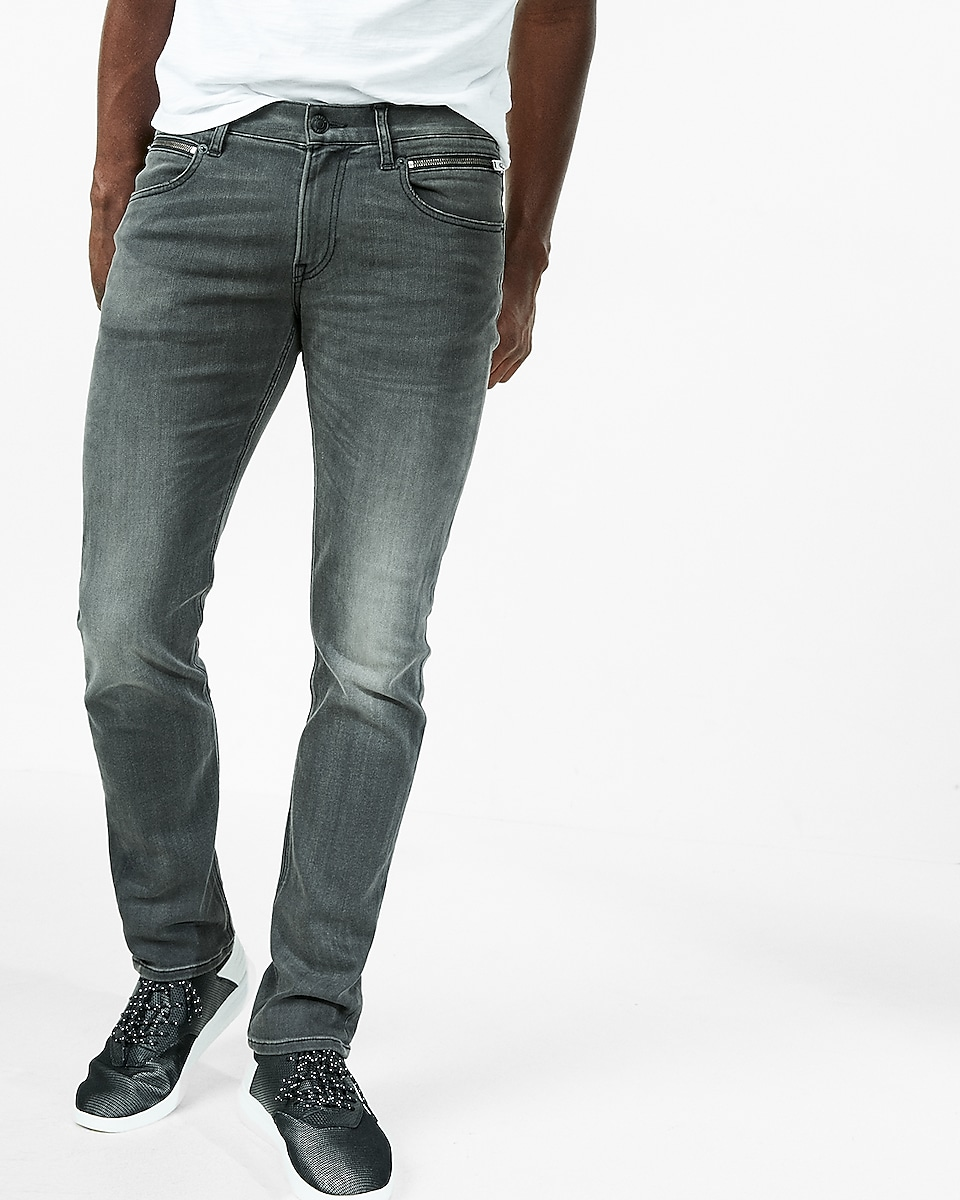 ... slim black zip pocket stretch+ jeans - BOGO $19.90 Men's Jeans - Shop Designer Jeans For Men