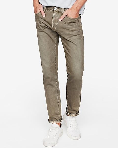 c96f83f0 Slim Garment Dyed Stretch Jeans   Express