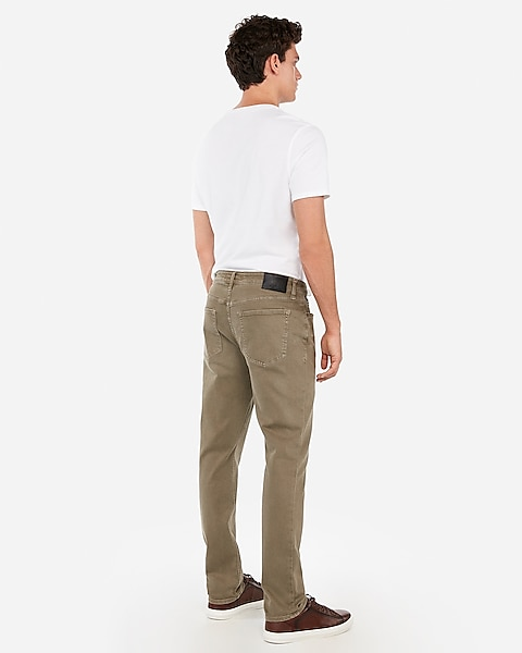 8fa17e4a Slim Olive Garment Dyed Stretch Jeans | Express