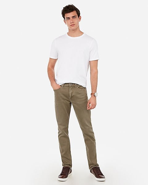 8fa17e4a Slim Olive Garment Dyed Stretch Jeans   Express