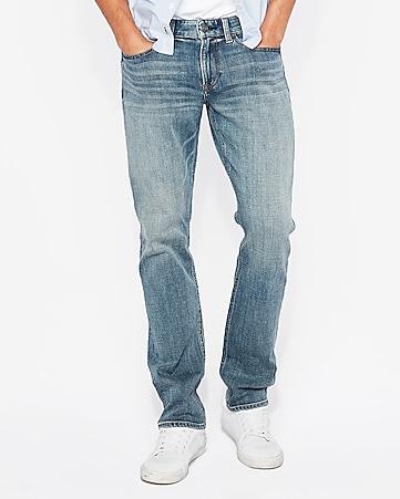Express View · slim straight medium wash stretch+ jeans e775a9a807
