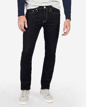 neueste art bester Verkauf Angebot Slim Dark Wash Hyper Stretch Jeans