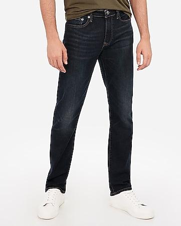 f2aeb4aa Express View · slim straight dark wash hyper stretch jeans