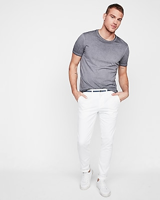 Skinny Chambray Trim 365 Comfort Stretch+ Chino Pant by Express