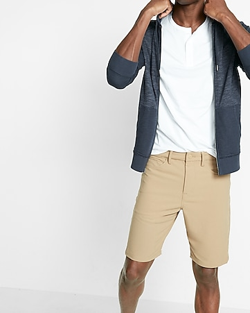 10 inch performance stretch five-pocket shorts