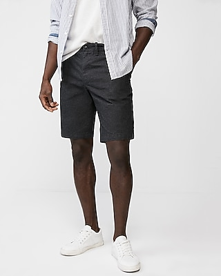classic fit 10 inch stretch textured shorts