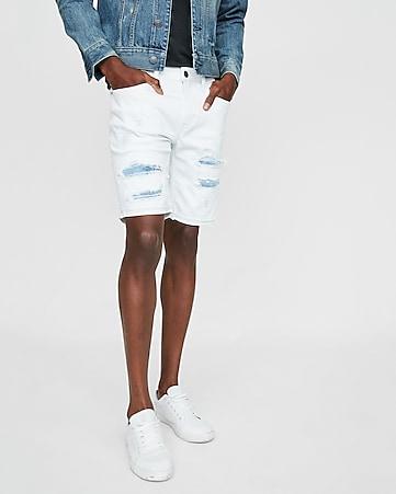 757bcc4a13 slim 9 inch distressed 365 comfort stretch+ denim shorts