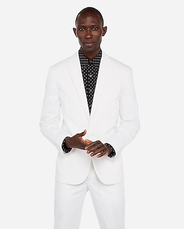 2922996dc92 Express View · slim white performance cotton blend stretch blazer