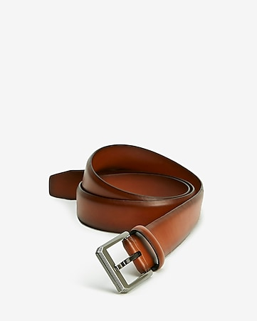 0aed46898940d Express View · brown textured angled prong buckle belt