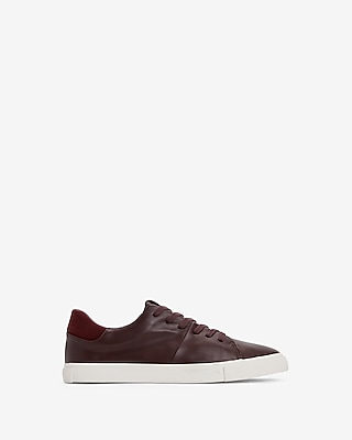 Express.com deals on Express Mens Faux Leather Suede Trim Sneakers