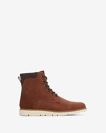 White Outsole Boots by Express