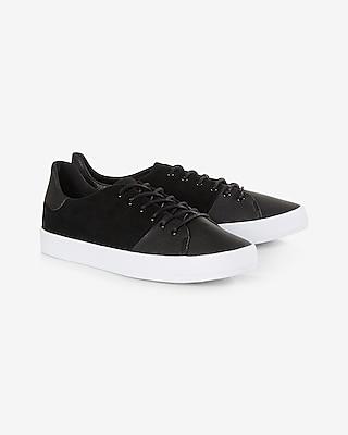 Express.com deals on Express Mens Creative Recreation Black Suede Carda Sneaker