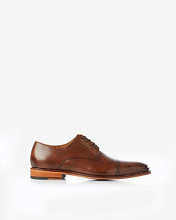 cap toe dress shoe