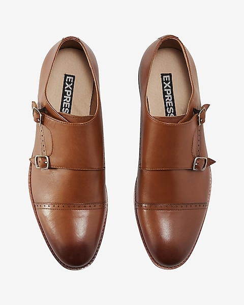 4c2c71412105 Leather Cap Toe Double Monk Strap Dress Shoe