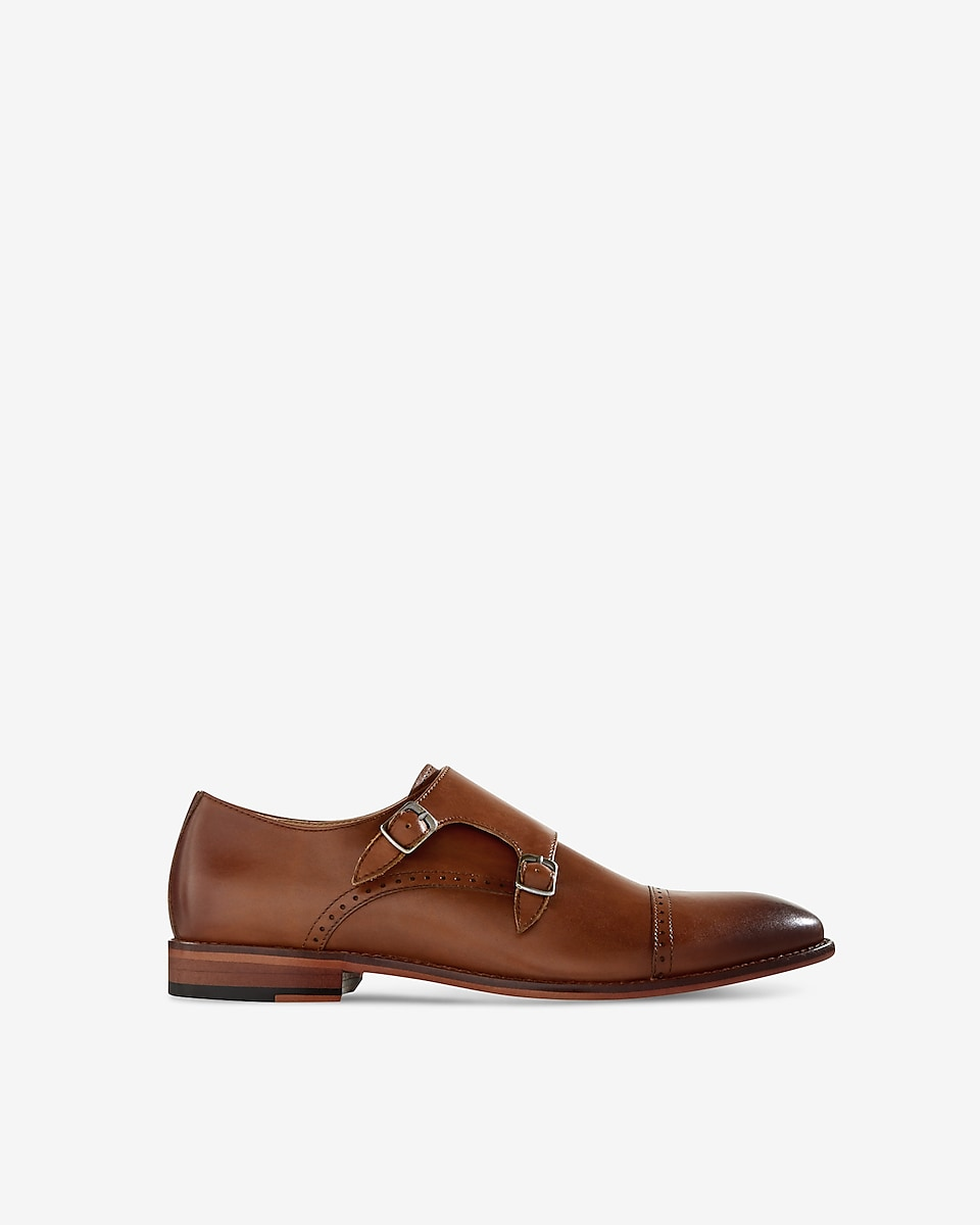 96716bc2a9574 Express View · leather cap toe double monk strap dress shoe