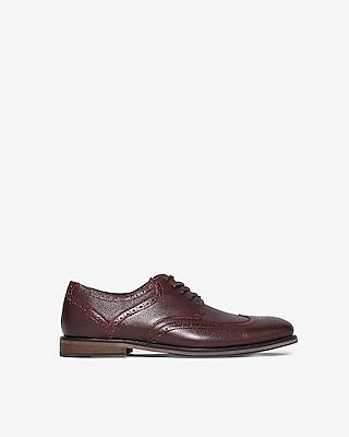 pebbled-wingtip-brogue-dress-shoe by express