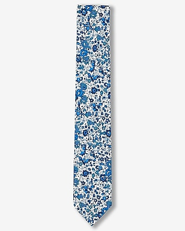 floral print slim liberty fabric cotton tie