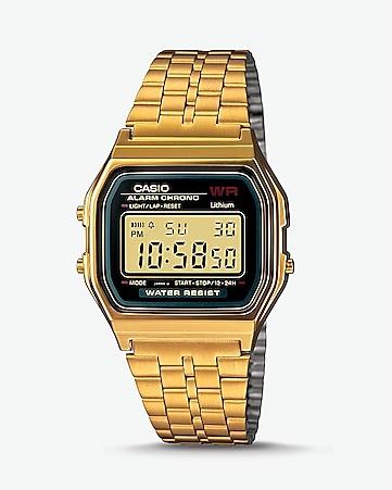 9256c40a8107 Vintage Casio Gold Digital Watch