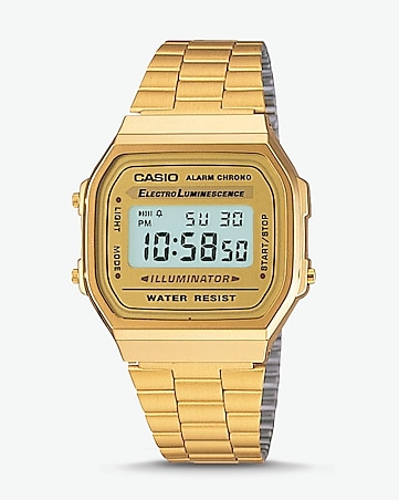 vintage casio gold digital watch