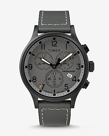 0fdbc554bd22 Express View · timex gray scout chronograph watch