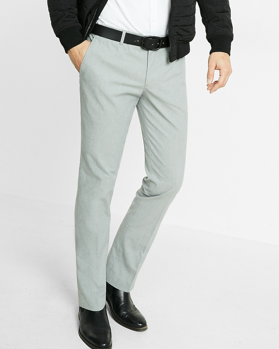 Express View Extra Slim Heather Gray Dress Pant