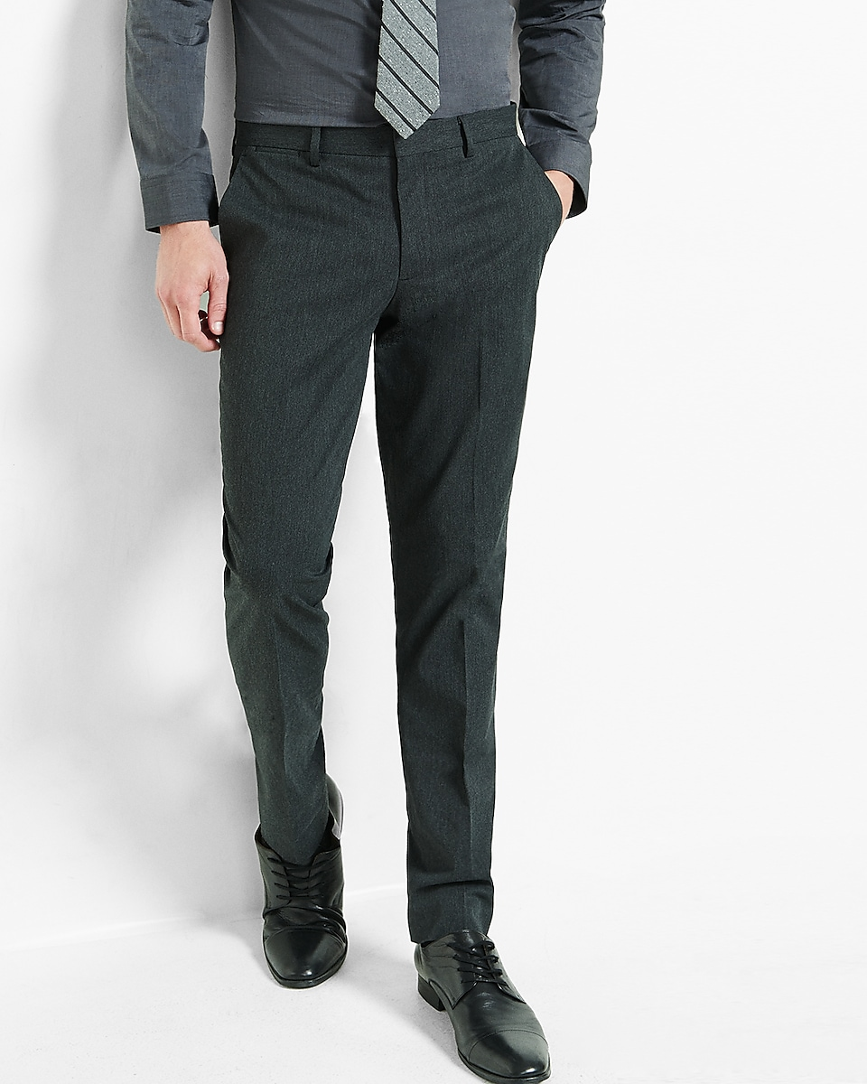 Extra Slim Charcoal Dress Pant | Express