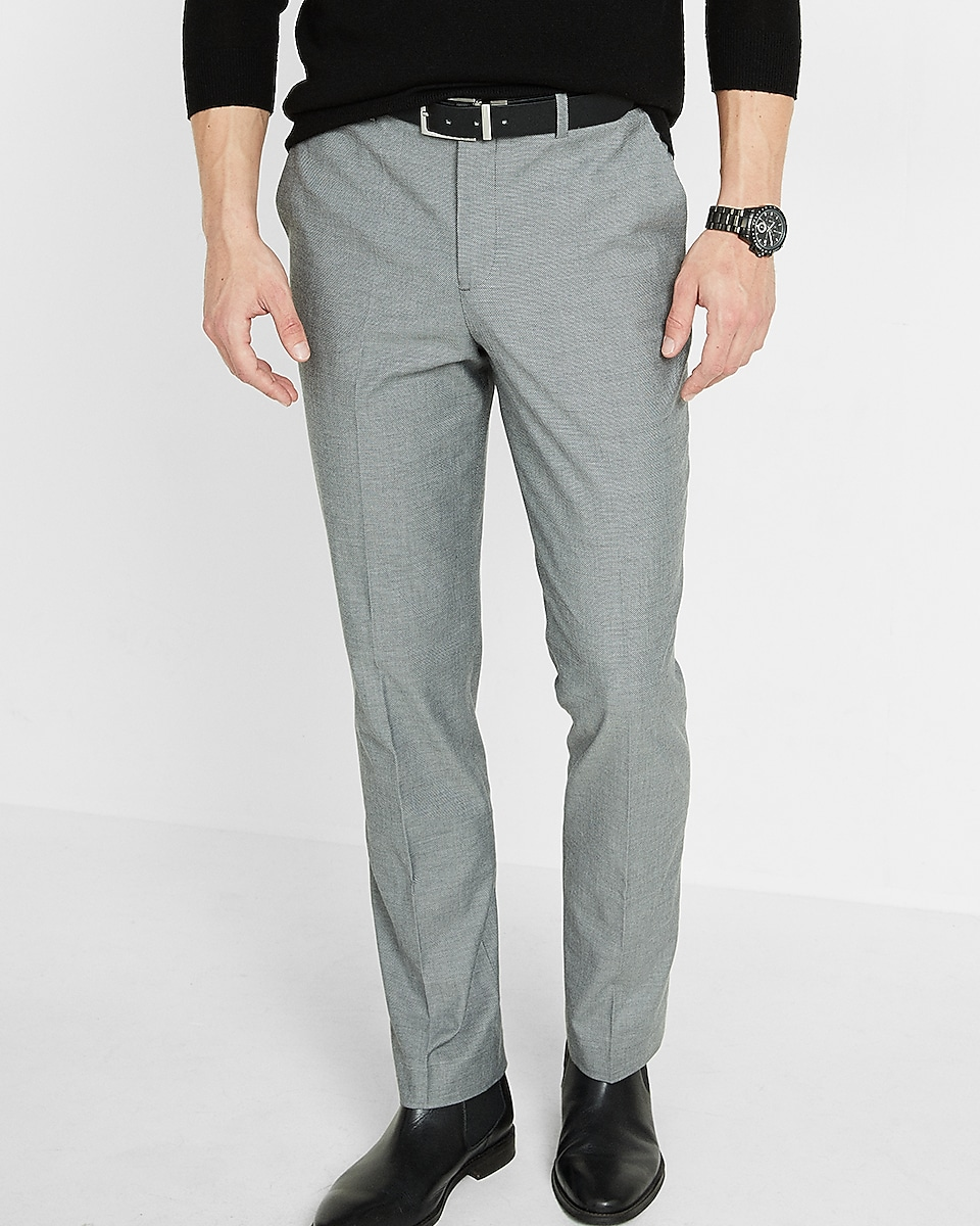Classic Diamond Weave Dress Pant | Express
