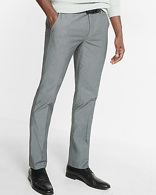 Skinny Innovator Gray Chambray Dress Pant Express