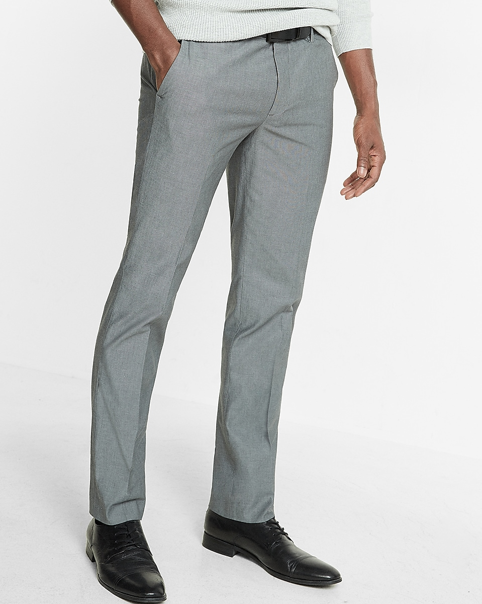Extra Slim Gray Chambray Dress Pant | Express