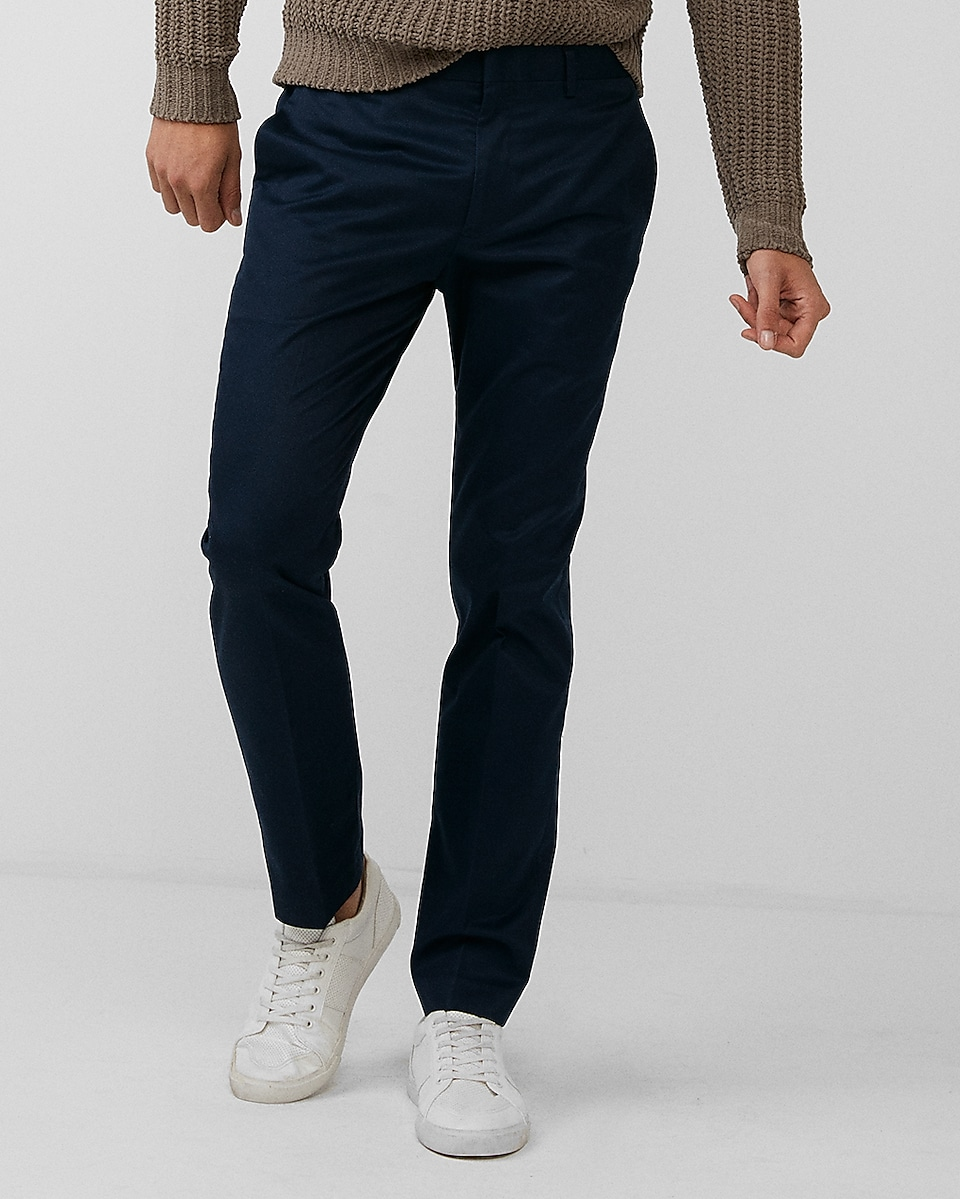 Shop Mens Dress Pants For Men Tendencies Navy Chinos Short 32 Express View Extra Slim Non Iron