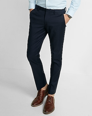 Mens Navy Blue Dress Pants WDVeD24X