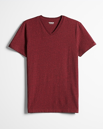 Heathered Slim Stretch Cotton V-neck Tee  87aed4f3cee8